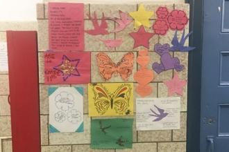 A display of love at Humanities Preparatory Academy in Chelsea.