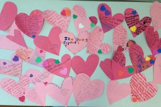 Love from students at Queens Explorers Elementary School (PS 316) in Ozone Park,