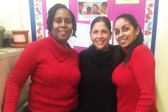 Proud staff at PS 48 in the Bronx.
