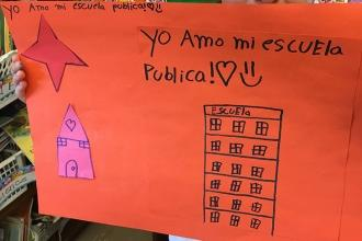 Love from a student at PS 28 in the Bronx.