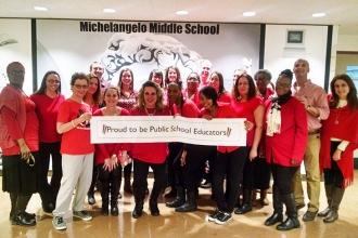 #PublicSchoolProud at Michelangelo MS (JHS 144) in the Bronx.