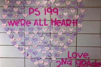 Second-graders at PS 199 on the Upper West Side sent Valentines to their school: