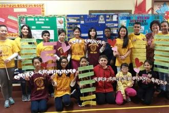 Students at IS 227 in Bensonhurst, Brooklyn love their school! **consent forms o
