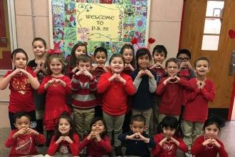 Kindergarteners show love at PS 52 on Staten Island