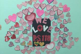Messages of love from students at PS 118 in St. Albans, Queens.