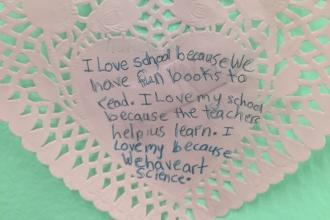 A student at PS 118 in St. Albans, Queens explains why she loves her school.