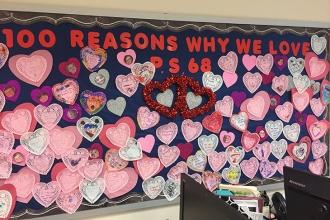 Students at PS 68 on Staten Island have 100 reasons to love their school.