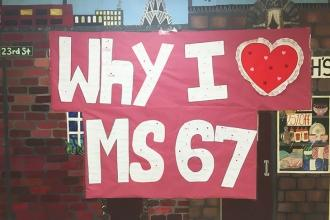 Showing love for MS 67 in Douglaston, Queens.