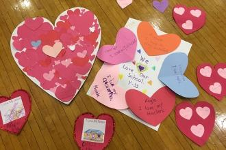 Love from students at P 771 in Brighton Beach, Brooklyn.