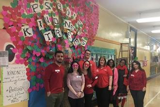 A kindness tree at PS 90 in Richmond Hill, Queens.