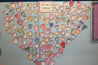 100 acts of kindness from students at PS 54 in Richmond Hill, Queens.