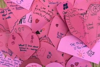 Love from students at PS 18 in Bellerose, Queens.