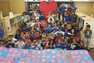 Love from PS 335, a UFT Community Learning School in Crown Heights, Brooklyn.