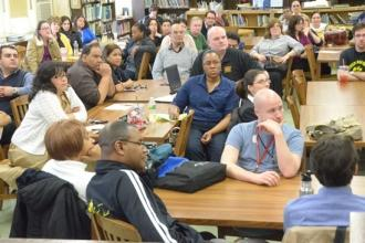 Mulgrew Visits Grover Cleveland Hs Queens