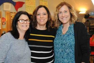 PS 107 teachers (from left) Michele Dente, Maryanne Cruz and Marybeth Gazlay.