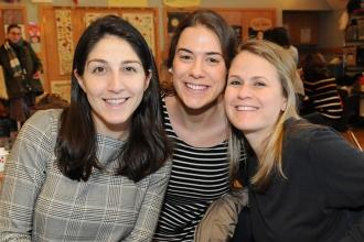 PS 107 teachers (from left) Ariane Berns, Kerry Pranberger and Marissa Bateman.