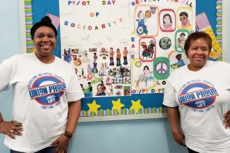Physical therapist Karen Lewis (left) and occupational therapist Denise Gourdine