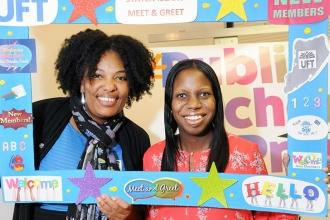PS 18 new teacher Latifah Benson (right), who previously worked as a paraprofess