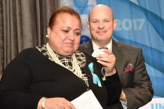 UFT Brooklyn Borough Representative Elizabeth Perez received the Jules Kolodny A