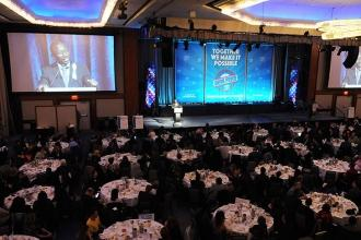 The Grand Ballroom at the New York Hilton was full as Alhassen Susso, the New Yo