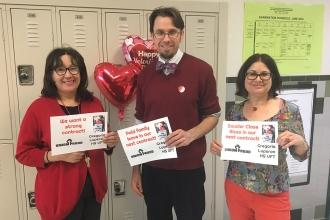 #UnionProud at Gregorio Luperon HS in Washington Heights.
