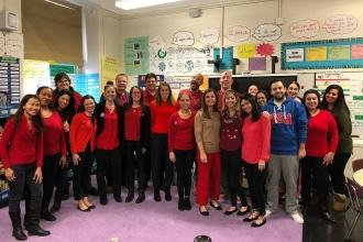 Educators show their love at PS 64 in the East Village.