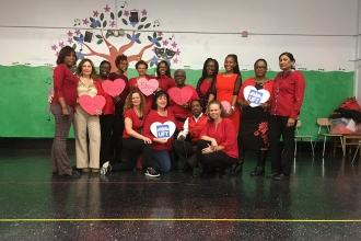 It's hearts for the union at PS 135 in Flatbush.