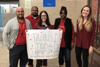 Transit Tech HS in East New York, Brooklyn is #UnionProud!