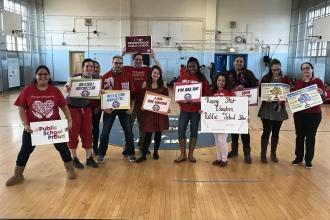 Educators are #UnionProud at PS 36 in the Bronx.