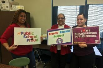 Educators at PS 182 in the Bronx are #UnionProud.