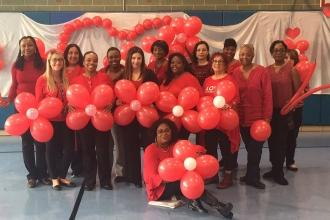 United in red at PS 276 in Canarsie, Brooklyn.