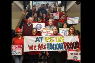 #UnionProud at PS 115 in Washington Heights.