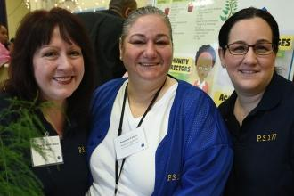 Chapter Leader Antonella Lombardo (right) from UCS PS 177 in Sheepshead Bay came