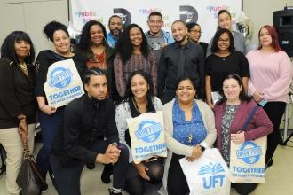 Large diverse group of UFT members