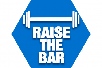 "Blue hexagon with symbol of a bar and text reading ""Raise the Bar"" representing UFT Special Education Committee"