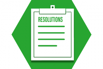 Hexagon with green background and clipboard showing UFT resolutions