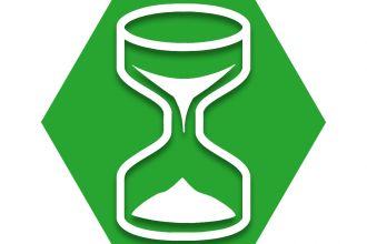 Green hexagon showing hourglass