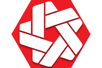 Red hexagon with abstract symbol representing UFT United Community Schools