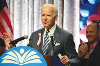Former Vice President Joe Biden addresses the gathering