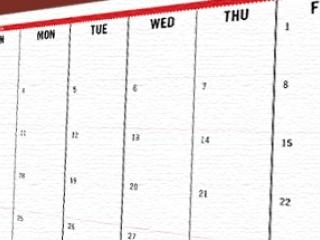 Generic image - Calendar for Home page carousel