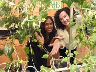 Science teachers Sheena Mathew (left) and Amy Schier started the project with th
