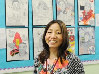 Art teacher Go Myung Choi of Park Place Academy, which receives students serving