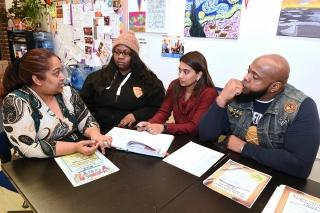 Discussing the next steps in their efforts to build up Brooklyn Collegiate
