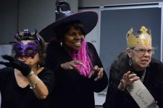 Getting into the Halloween spirit are (from left) Silvia Bodden, Marjorie Bryant