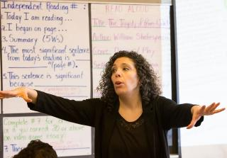 English language arts teacher Maria Karaiskos, who attended Long Island City HS