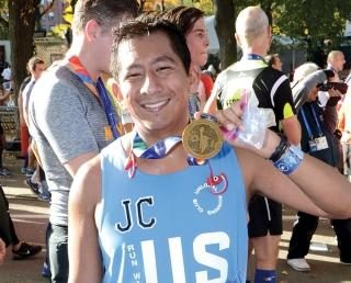 Perez finishes the New York City Marathon on Nov. 6 after raising $3,000 for a n