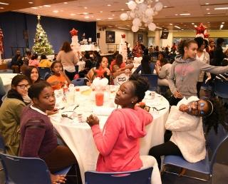 The holiday spirit was in full swing at UFT headquarters at the annual holiday p