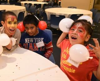 Friendship, face-painting and fun joined food on the luncheon menu.