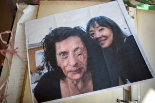 "A photo of Fried in makeup for the movie ""Noah"" rests on her kitchen table."