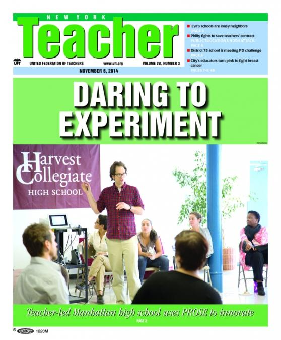 NYT cover Nov 11, 2014 - Daring to eperiment
